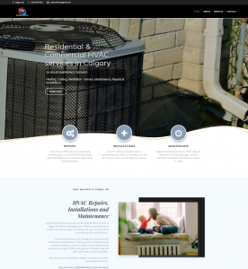 Custom Webpage for HVAC Company in Calgary, AB